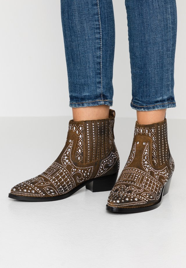 Ankle boot - cognac