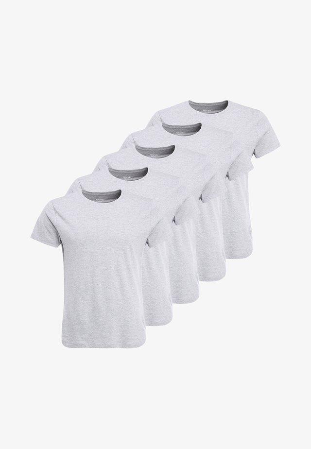 5 PACK - Basic T-shirt - mottled light grey