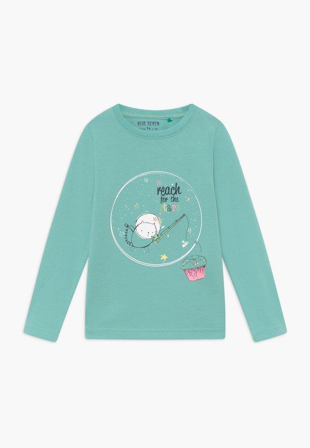 KIDS GLITTER STAR CAT MUFFIN - Langærmede T-shirts - türkis
