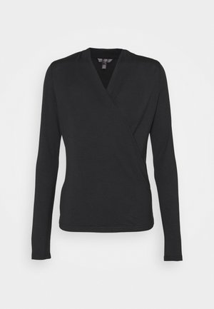 THREADSOFT WRAP - Long sleeved top - black