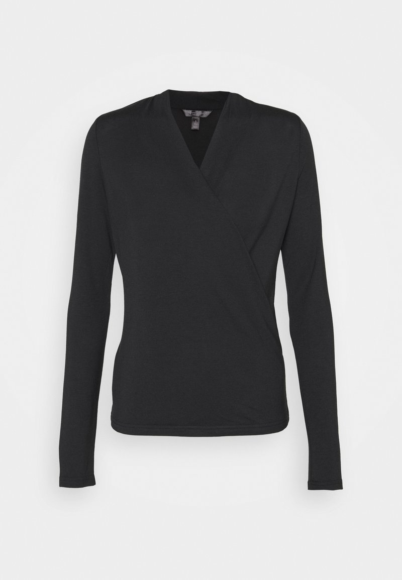 Banana Republic - THREADSOFT WRAP - Long sleeved top - black