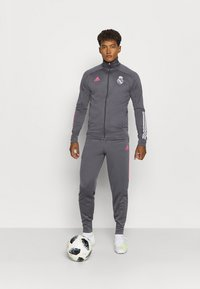 adidas Performance - REAL MADRID AEROREADY FOOTBALL TRACKSUIT SET - Klubové oblečení - grey - 1