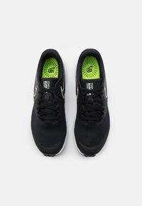 Nike Performance - STAR RUNNER 2 UNISEX - Neutral running shoes - black/white/volt - 3