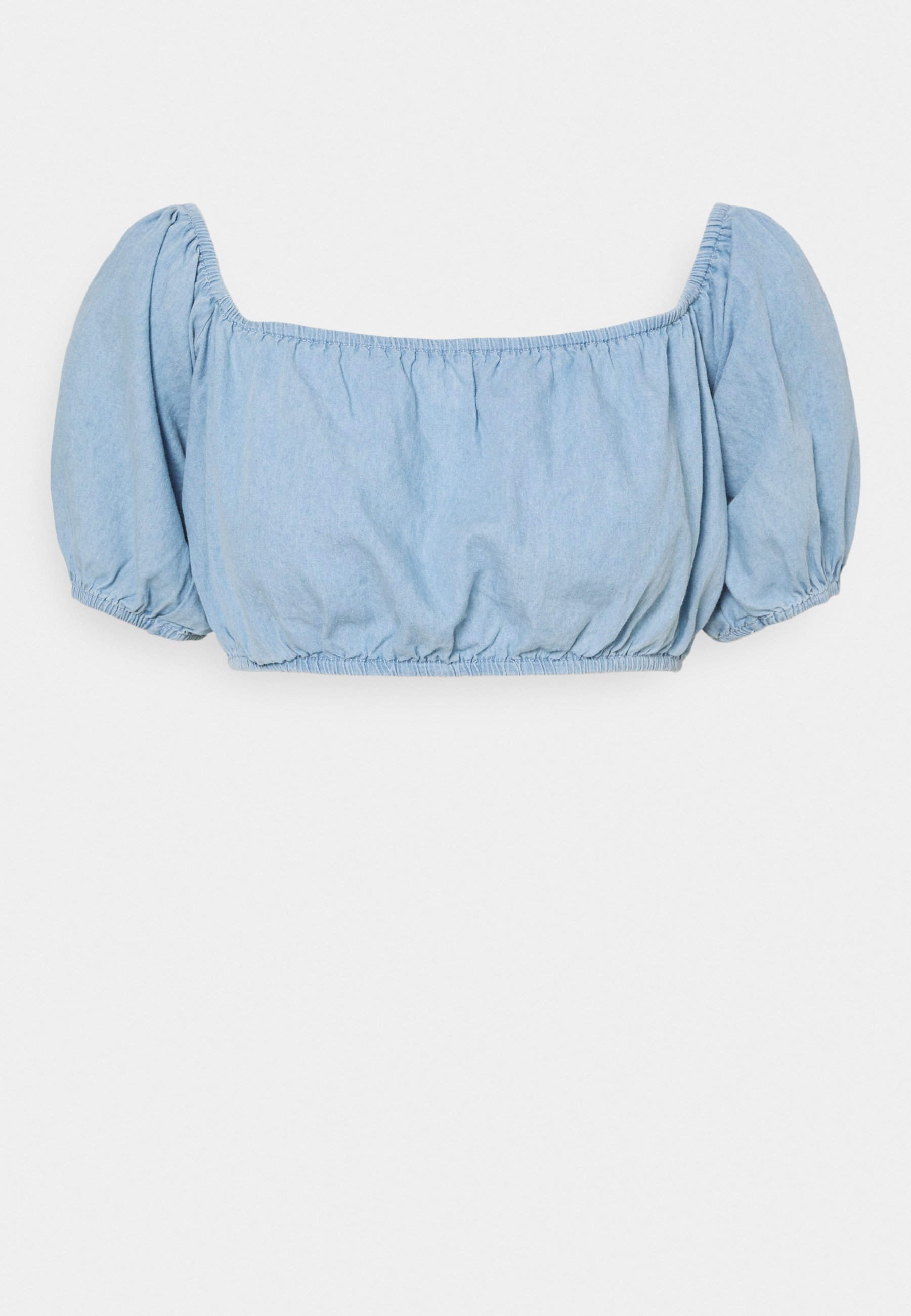 Donna CHAMBRAY CROP TOP  - T-shirt con stampa