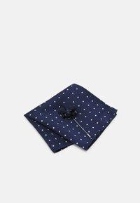 Burton Menswear London - TIE HANKIE AND FLORAL PIN SET - Cravatta - navy - 3