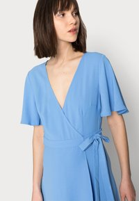 Zign - WRAP SOLID DRESS - Day dress - blue - 3