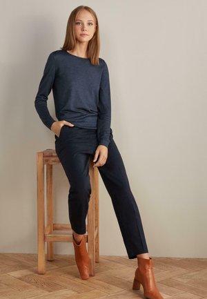 ZIGARETTEN - Trousers - navy blue