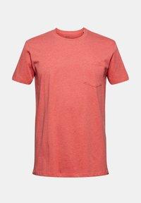 Esprit - SLIM FIT - Basic T-shirt - coral red - 9