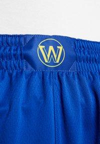 Nike Performance - NBA GOLDEN STATE WARRIORS SWINGMAN SHORT - Sports shorts - rush blue/white/amarillo - 3