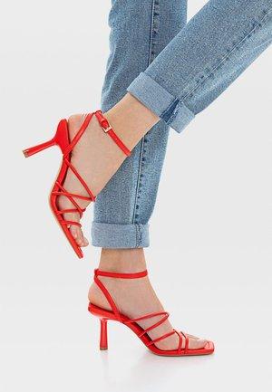 MIT ABSATZ - High Heel Sandalette - red
