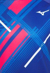 Mizuno - SHADOW TEE - T-shirts print - mazarine blue - 2
