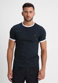 Farah - GROVES - T-shirt basic - true navy - 0