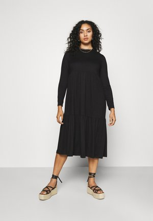 TIERED DRESS - Robe en jersey - black