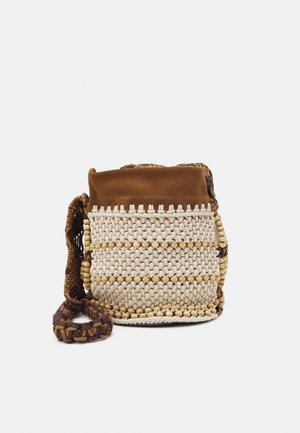 CROCHET SHOULDER BAG - Across body bag - brown