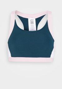COLOR BLOCK BRA - Medium support sports bra - magnetic blue