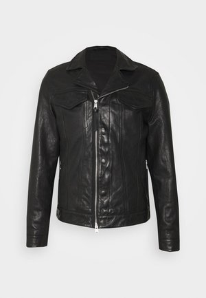 BRANDT JACKET - Leather jacket - black