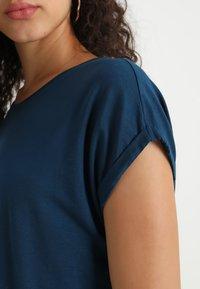 Vero Moda - VMAVA PLAIN - T-shirt basic - gibraltar sea - 4