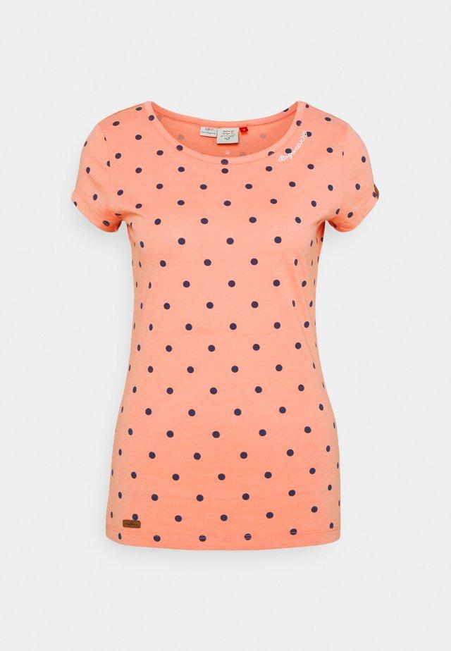 DOTS - T-shirt print - coral