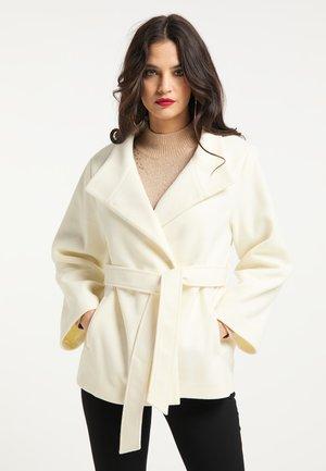 Krótki płaszcz - wollweiss