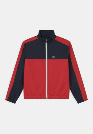 LOGO - Training jacket - navy blue/redcurrant bush