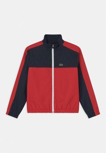 LOGO - Training jacket - navy blue/redcurrant bush