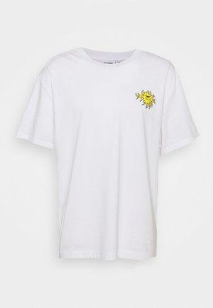 BAGDE UNISEX  - Print T-shirt - white