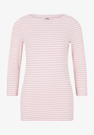 LOUNA - Long sleeved top - rosa/weiß