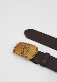 Polo Ralph Lauren - BEAR BELT-CASUAL - Pásek - brown leather - 3