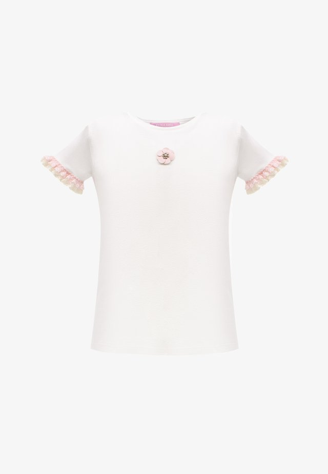 WITH FLOWER - T-shirt con stampa - white