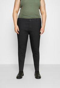 Even&Odd Curvy - Jeans Skinny Fit - black denim - 0