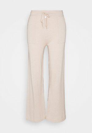 PANTS WIDE LEG - Trousers - beige
