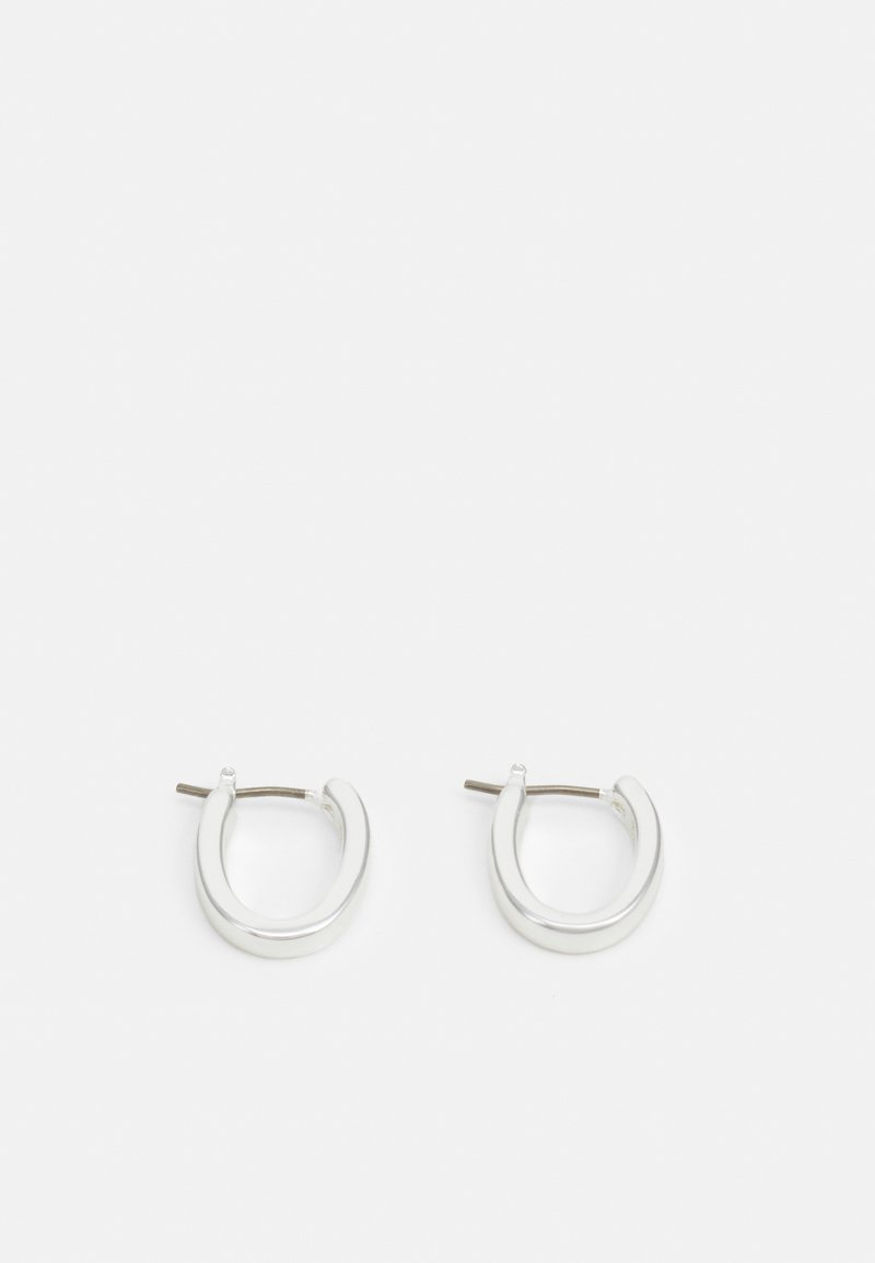 Lauren Ralph Lauren - BASIC SMALL OVAL HOOP - Earrings - silver-coloured