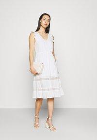 Vila - VIBASI FESITVAL DRESS - Day dress - snow white - 1
