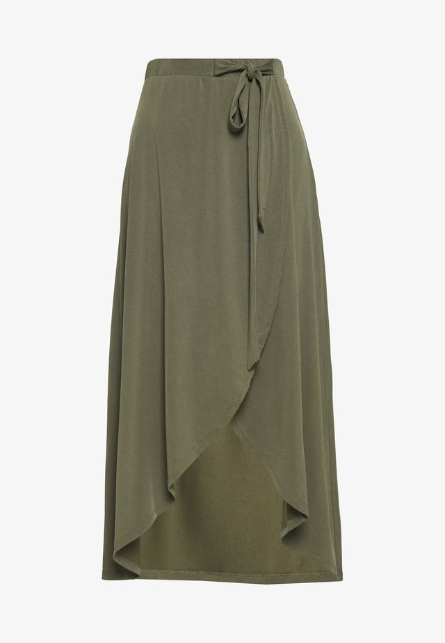 OBJANNIE SKIRT PETIT - Maxi skirt - burnt olive