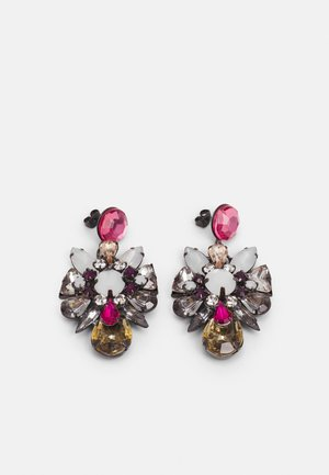 PCPATTI EARRINGS - Pendientes - dark silver-coloured/multi
