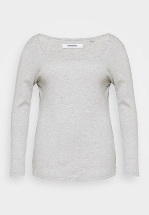 SQUARE NECK LONG SLEEVE - Maglietta a manica lunga - grey marl