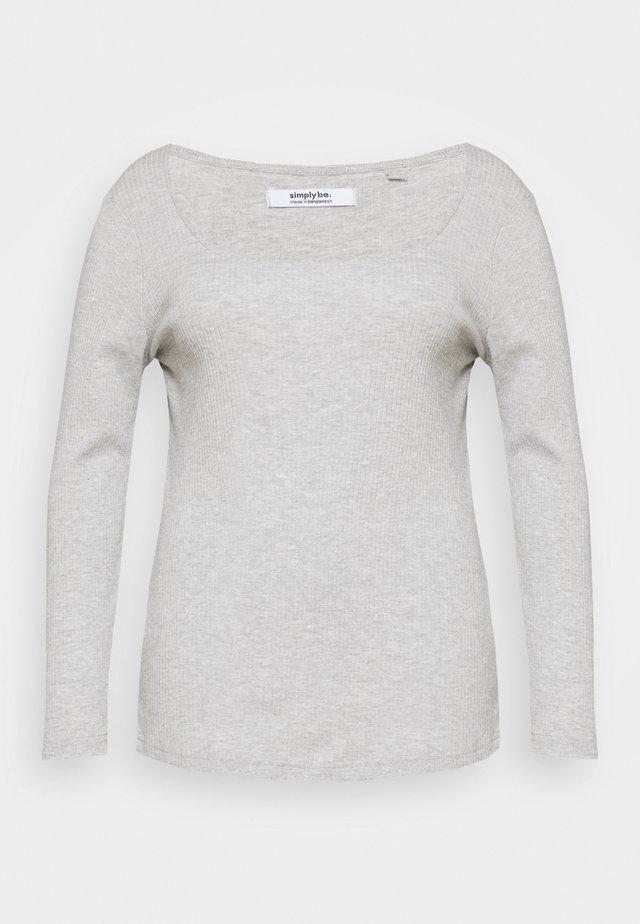 SQUARE NECK LONG SLEEVE - T-shirt à manches longues - grey marl