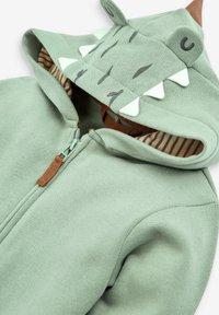 Next - DINO SPIKES - Zip-up sweatshirt - khaki - 2