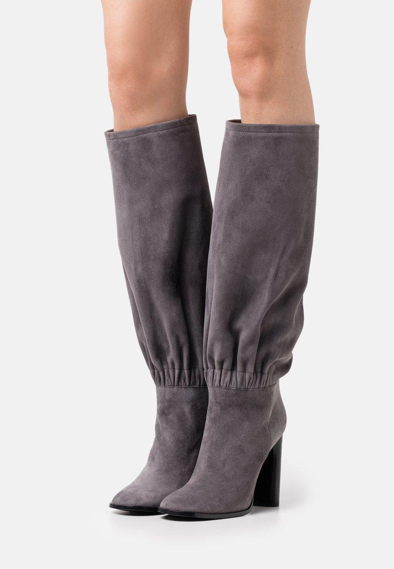 Casadei - Bottes à talons hauts - gravity grey