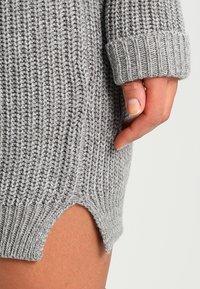 Noisy May - NMSIESTA O-NECK DRESS - Jumper dress - medium grey melange - 3