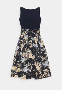 Lauren Ralph Lauren - PRINTED FAILLE DRESS COMBO - Robe de soirée - lighh navy/yellow - 6