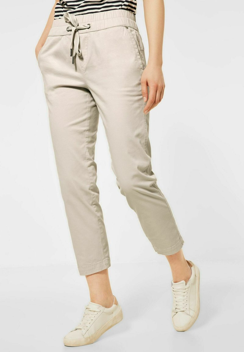 Street One - Tracksuit bottoms - beige