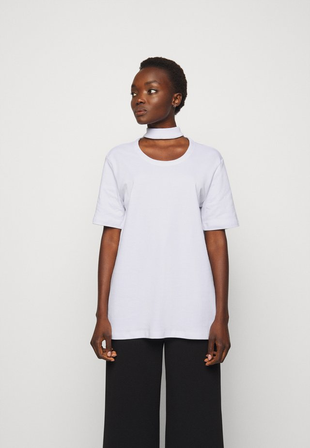 DOUBLE TOP - Print T-shirt - off-white