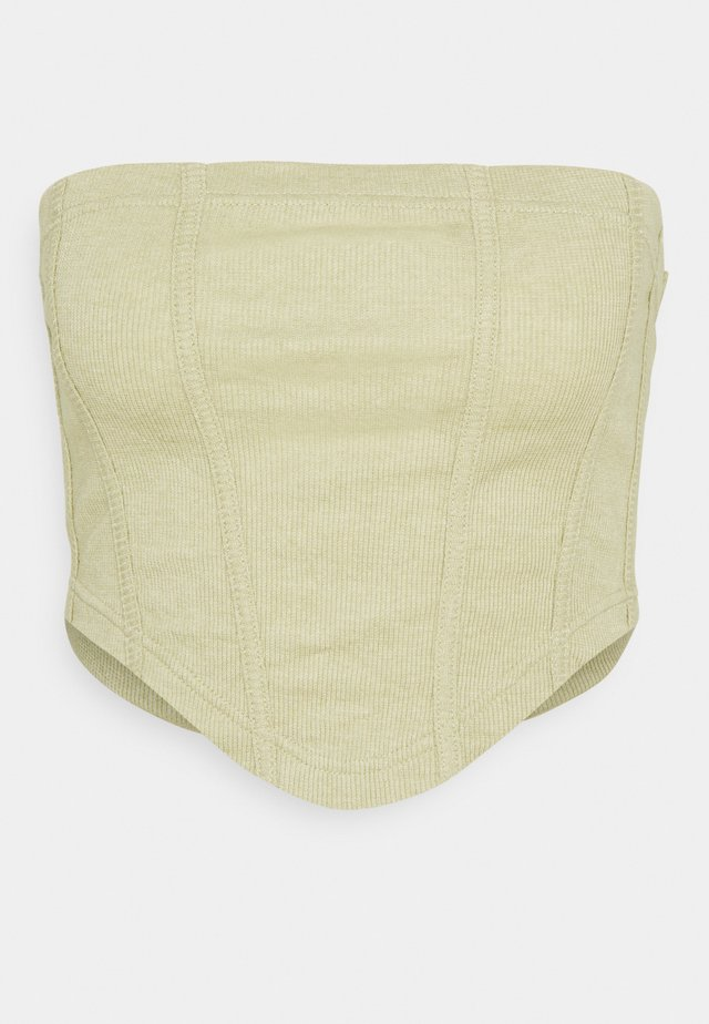 STRUCTURED BANDEAU CORSET - Débardeur - light green