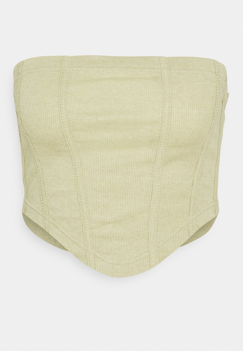 Missguided - STRUCTURED BANDEAU CORSET - Topper - light green