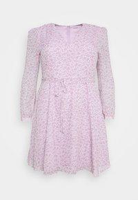Glamorous Curve - SHEER LONGSLEEVE DRESS - Korte jurk - lilac lavender - 6