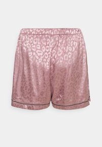 Missguided - PLUS SIZE PREMIUM ANIMAL SHIRT AND SHORT SET - Pyjamas - mauve