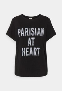Cinq à Sept - PARISIAN AT HEART TEE - T-shirt print - black/white - 0