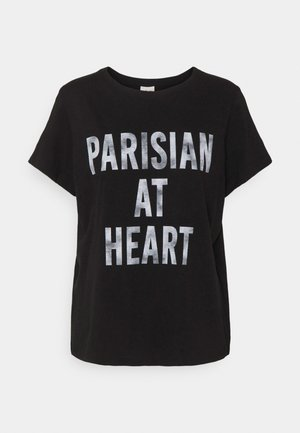 PARISIAN AT HEART TEE - Triko s potiskem - black/white