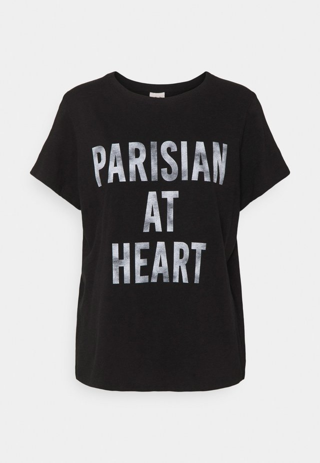 PARISIAN AT HEART TEE - T-shirts med print - black/white